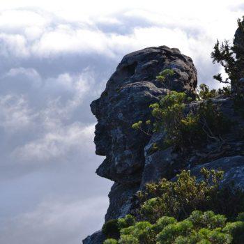 Zijkant van de Tafelberg
