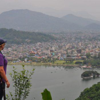 Uitzicht over Pokhara