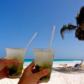 Chillen op het strand van Isla de Mujeres
