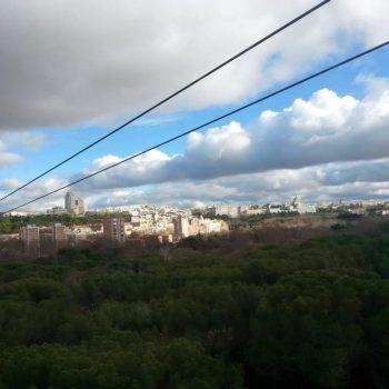Uitzicht vanaf de teleférico