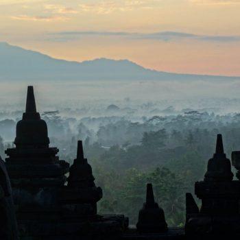 Borobudur zonsopkomst
