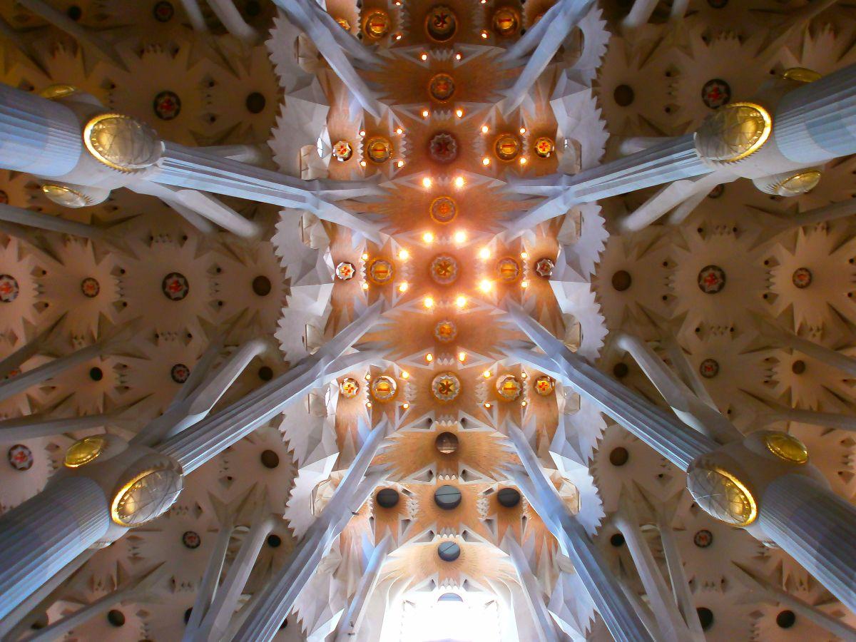 La Sagrada, van binnen ook heel bijzonder