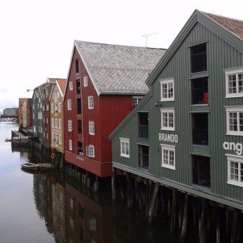 Gekleurde huisjes in Trondheim