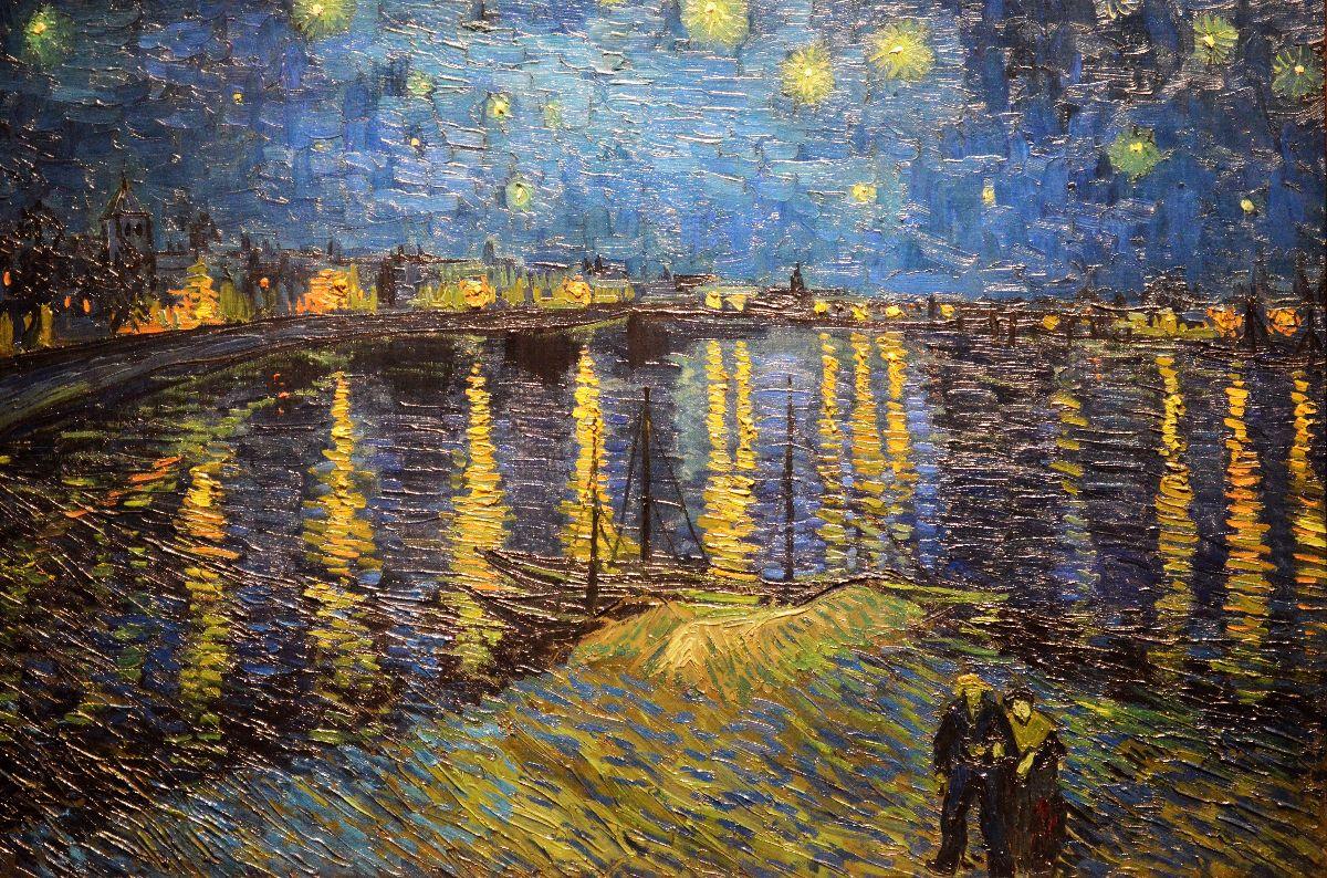 Nuit étoiléé sur le Rhone van Van Gogh