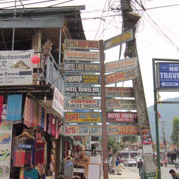 Pokhara centrum