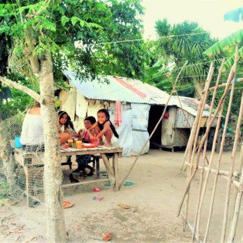 Locol dorpje op Malapascua