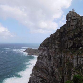 Cape Point, met Kaap de Goede Hoop op de achtergrond