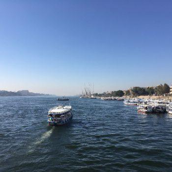 De Nijl en de vele bootjes