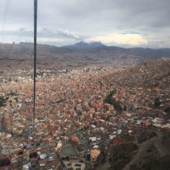 La Paz vanuit de kabelbaan