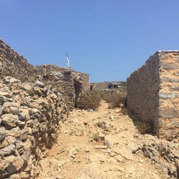 Verlaten dorpje op Saria