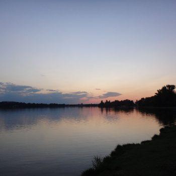 Tatameer met zonsondergang