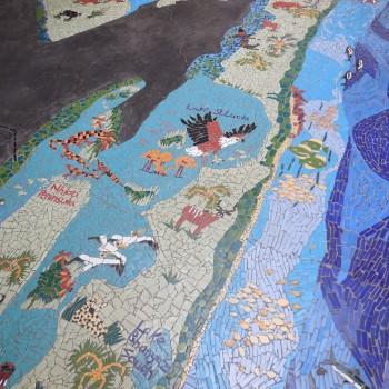 mozaique plattegrond bij de hippo safari