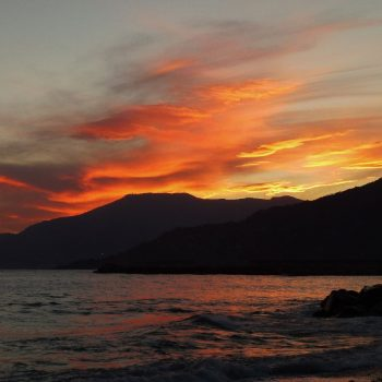 zonsondergang in Ventimiglia