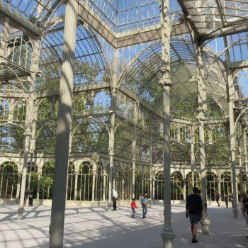 Palacio del Crystal, ook gratis te bezoeken, in het Retiro Park
