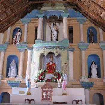 Interieur kerkje San Pedro de Atacama