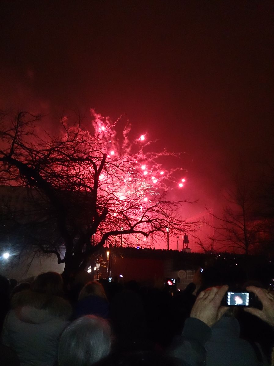 Vuurwerk vanaf het centrale punt