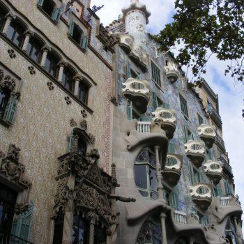 Casa Amatller (links) en Casa Batlló (rechts)