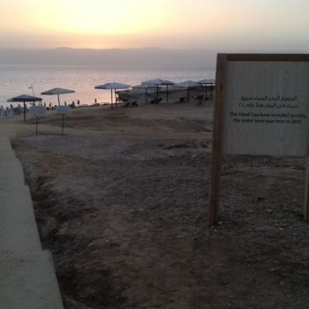 Dramatische daling van de Dode Zee