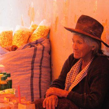 Op de markt in Tarabuco