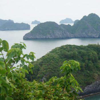 Uitzicht vanaf de top van het eiland waar we overnachtten