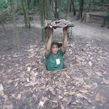 Cu Chi tunnels in de buurt van Ho Chi Minh
