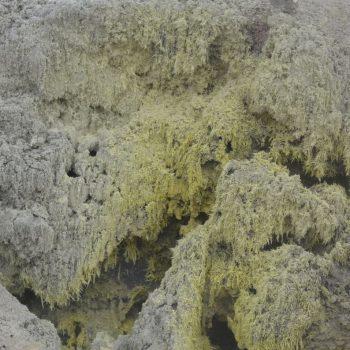 Zwavel van een vulkaan