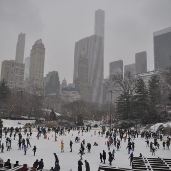 Sneeuw in Central park