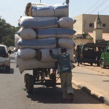 Typisch African way of transport