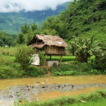 Schattige huisjes in Mai Chau