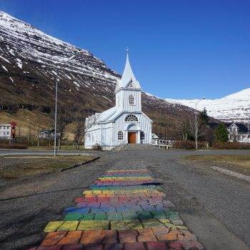 Rainbow & church