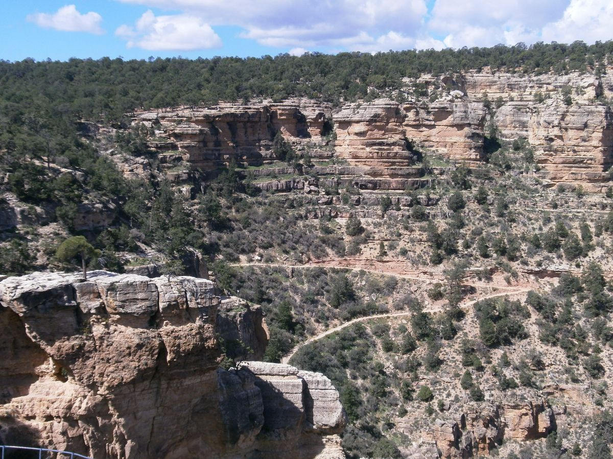 Uitzicht op 1 van de wandelroutes