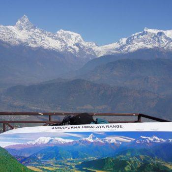 Annapurna gebergte vanuit Pokhara