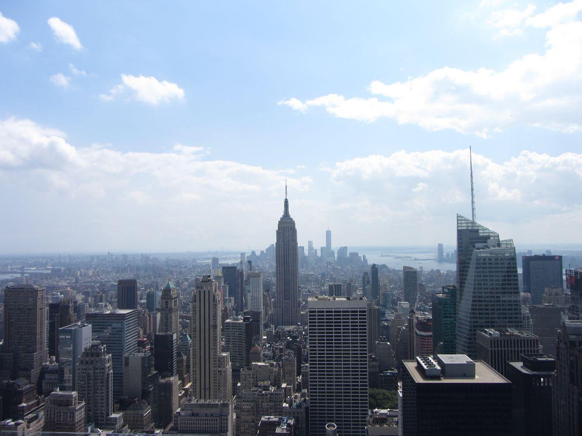 Uitzicht vanaf het Rockefeller Centre