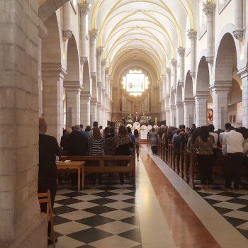 De kerk in Bethlehem