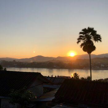 Zonsondergang in Huay Xai