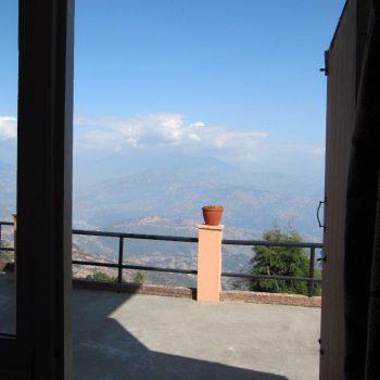 Uitzicht vanuit het hotel - Nagarkot