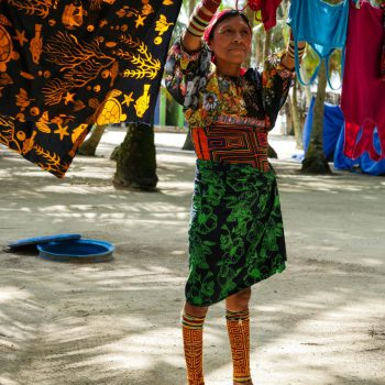 Guna indianen op San Blas