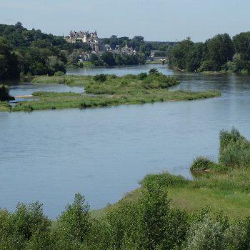 zicht over de Loire op Amboise