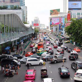 De drukte van Bangkok