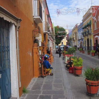 Straatje ten oosten van de Zócalo, Puebla