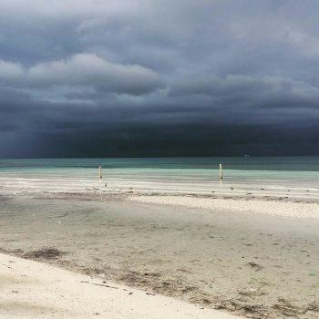 Zelfs met een tyfoon nog heel mooi