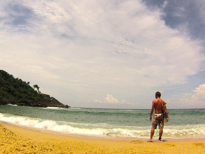 Baai van Carrizalillio; ideaal om surfen te leren