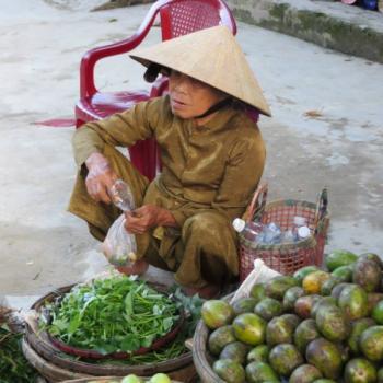 in de straten van Hoi An