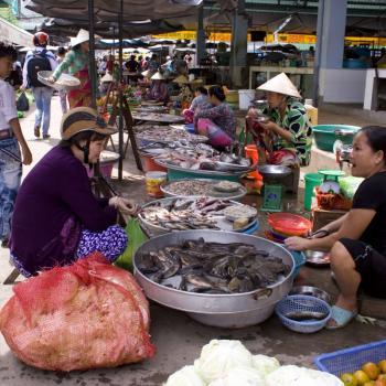 Lokale markt in Mekong Delta