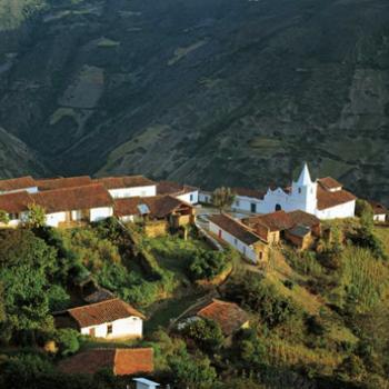 Bergdorpje Los Nevados in de Andes