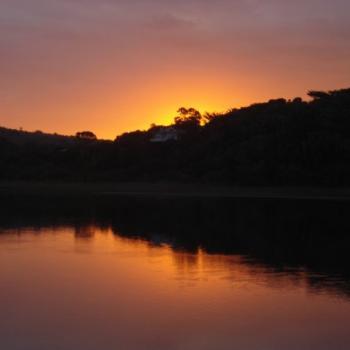 één van de velen prachtige zonsondergangen