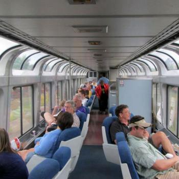 Panoramische treinwagon in de California Zephyr (Chicago-San Francisco)