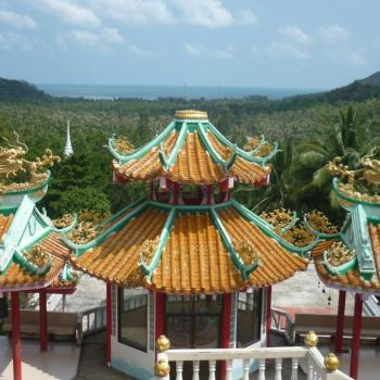 Uitzicht vanaf de Chinese tempel