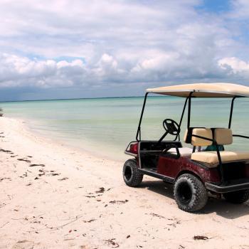 Golfkarretje op Isla Holbox