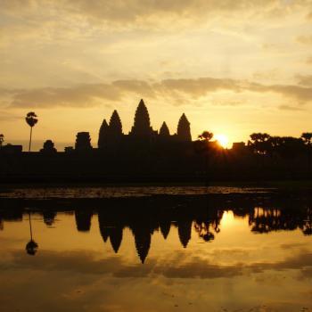 Zonsopkomst bij Angkor Wat